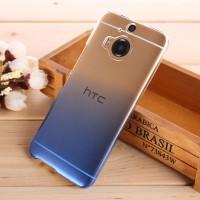 Пластиковый градиентный полупрозрачный чехол для HTC One M9+ Синий