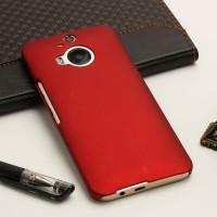 Пластиковый матовый непрозрачный чехол для HTC One M9+ Красный
