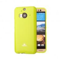 Силиконовый матовый непрозрачный чехол для HTC One M9+ Зеленый