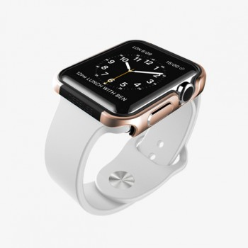Металлический чехол накладка из нержавеющей стали для Apple Watch 38мм