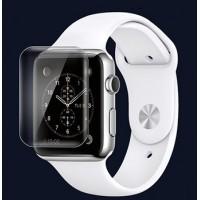 Экстразащитная термопластичная уретановая пленка на плоскую и изогнутые поверхности экрана для Apple Watch 38мм