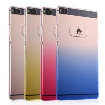 Пластиковый градиентный полупрозрачный чехол с отверстием для лого для Huawei P8