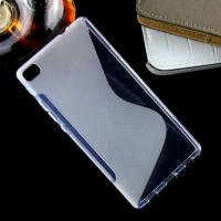 Силиконовый S чехол для Huawei P8 Белый