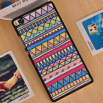 Пластиковый матовый дизайнерский чехол с УФ-принтом для Huawei P8