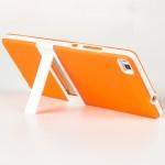 Двухкомпонентный силиконовый чехол с пластиковым каркасом-подставкой для Huawei P8