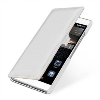 Кожаный чехол горизонтальная книжка (нат. кожа) с защелкой для Huawei P8