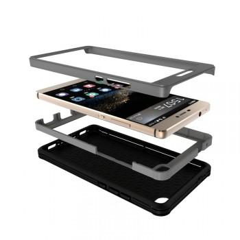 Дизайнерский антиударный двухкомпонентный чехол силикон/поликарбонат для Huawei P8