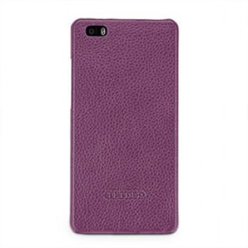 Кожаный чехол накладка (нат. кожа) для Huawei P8 Lite