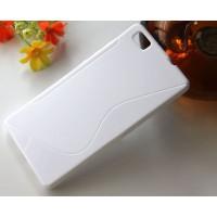 Силиконовый S чехол для Huawei P8 Lite Белый