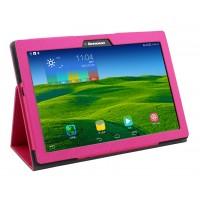 Чехол подставка с рамочной защитой текстура Золото для Lenovo Tab 2 A10-70/Tab 3 10 Business Пурпурный