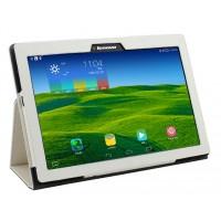 Чехол подставка с рамочной защитой текстура Золото для Lenovo Tab 2 A10-70/Tab 3 10 Business Белый