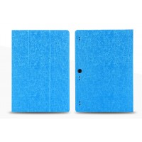 Чехол подставка с рамочной защитой текстура Линии для Lenovo Tab 2 A10-70/Tab 3 10 Business Голубой