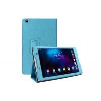 Текстурный чехол подставка с рамочной защитой для Lenovo Tab 2 A8 Голубой