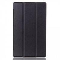 Чехол флип подставка сегментарный для Lenovo Tab 2 A8 Черный