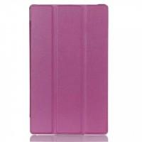Чехол флип подставка сегментарный для Lenovo Tab 2 A8 Фиолетовый