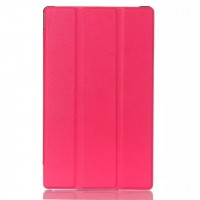 Чехол флип подставка сегментарный для Lenovo Tab 2 A8 Пурпурный