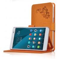 Чехол подставка текстурный для Huawei MediaPad X2 Оранжевый