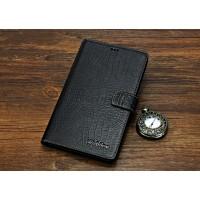 Кожаный чехол портмоне (нат. кожа крокодила) для Huawei MediaPad X2 Черный