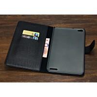Кожаный чехол портмоне (нат. кожа крокодила) для Huawei MediaPad X2