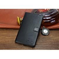 Кожаный чехол портмоне (нат. кожа) для Huawei MediaPad X2 Черный