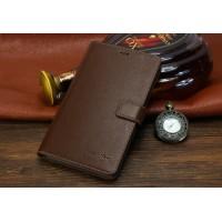 Кожаный чехол портмоне (нат. кожа) для Huawei MediaPad X2 Коричневый