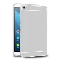 Двухкомпонентный чехол с металлическим бампером и поликарбонатной накладкой для Huawei MediaPad X2 Серый
