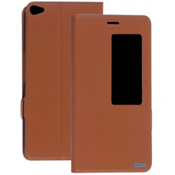 Кожаный чехол смарт флип подставка с окном вызова для Huawei MediaPad X2