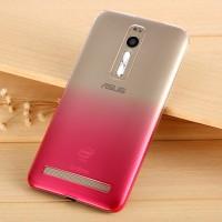 Пластиковый градиентный полупрозрачный чехол для Asus Zenfone 2 Пурпурный
