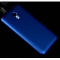 Пластиковый матовый металлик чехол для Meizu M2 Note Синий