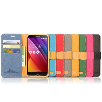Дизайнерский чехол портмоне подставка с защелкой для Asus Zenfone 2