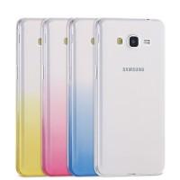 Силиконовый транспарентный чехол с градиентным цветовым напылением для Samsung Galaxy Grand Prime
