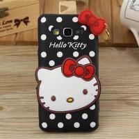 Силиконовый дизайнерский фигурный чехол серия Hello Kitty для Samsung Galaxy Grand Prime
