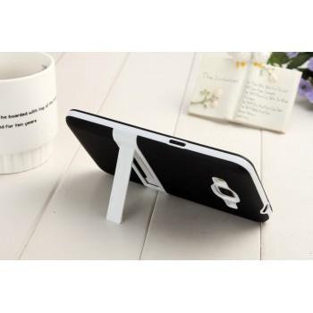 Двухкомпонентный силиконовый чехол с пластиковым каркасом-подставкой для Samsung Galaxy Grand Prime