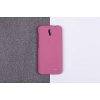 Пластиковый матовый непрозрачный чехол для Alcatel One Touch Pop 2 (4.5) Розовый