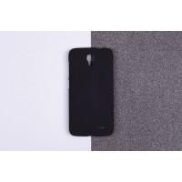 Пластиковый матовый непрозрачный чехол для Alcatel One Touch Pop 2 (4.5) Черный