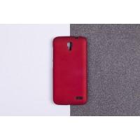 Пластиковый матовый непрозрачный чехол для Alcatel One Touch Pop 2 (4.5) Красный