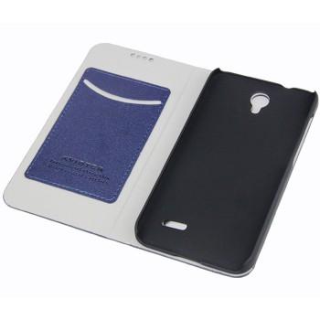 Чехол портмоне подставка на пластиковой основе для Alcatel One Touch Pop 2 (4.5)