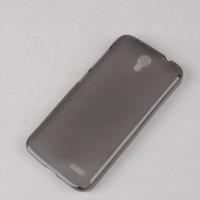 Силиконовый матовый полупрозрачный чехол для Alcatel One Touch Pop 2 (4.5) Черный