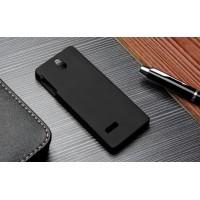 Пластиковый матовый непрозрачный чехол для Nokia 515 Черный