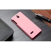 Пластиковый матовый непрозрачный чехол для Nokia 515 Розовый