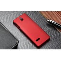Пластиковый матовый непрозрачный чехол для Nokia 515 Красный