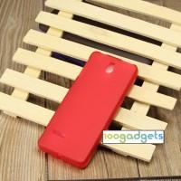 Силиконовый матовый полупрозрачный чехол для Nokia 515 Красный