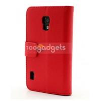 Чехол портмоне-подставка для LG Optimus L7 2 II P715 Красный
