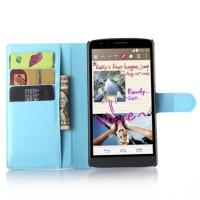 Чехол портмоне подставка с защелкой для LG G4 Stylus Голубой