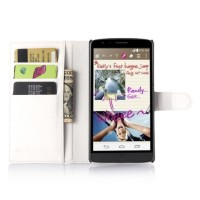 Чехол портмоне подставка с защелкой для LG G4 Stylus Белый