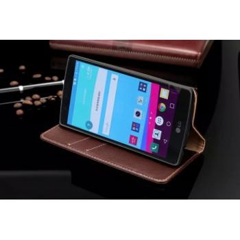 Кожаный чехол горизонтальная книжка подставка для LG G4