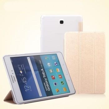 Текстурный чехол флип подставка сегментарный на пластиковой полупрозрачной основе для Samsung Galaxy Tab A 8