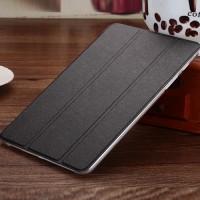 Текстурный чехол флип подставка сегментарный на пластиковой полупрозрачной основе для Samsung Galaxy Tab A 8 Черный
