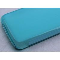 Силиконовый матовый полупрозрачный чехол для Acer Liquid Z410 Голубой