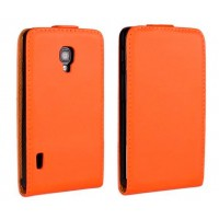 Чехол книжка вертикальная для LG Optimus L7 2 II P713 Оранжевый